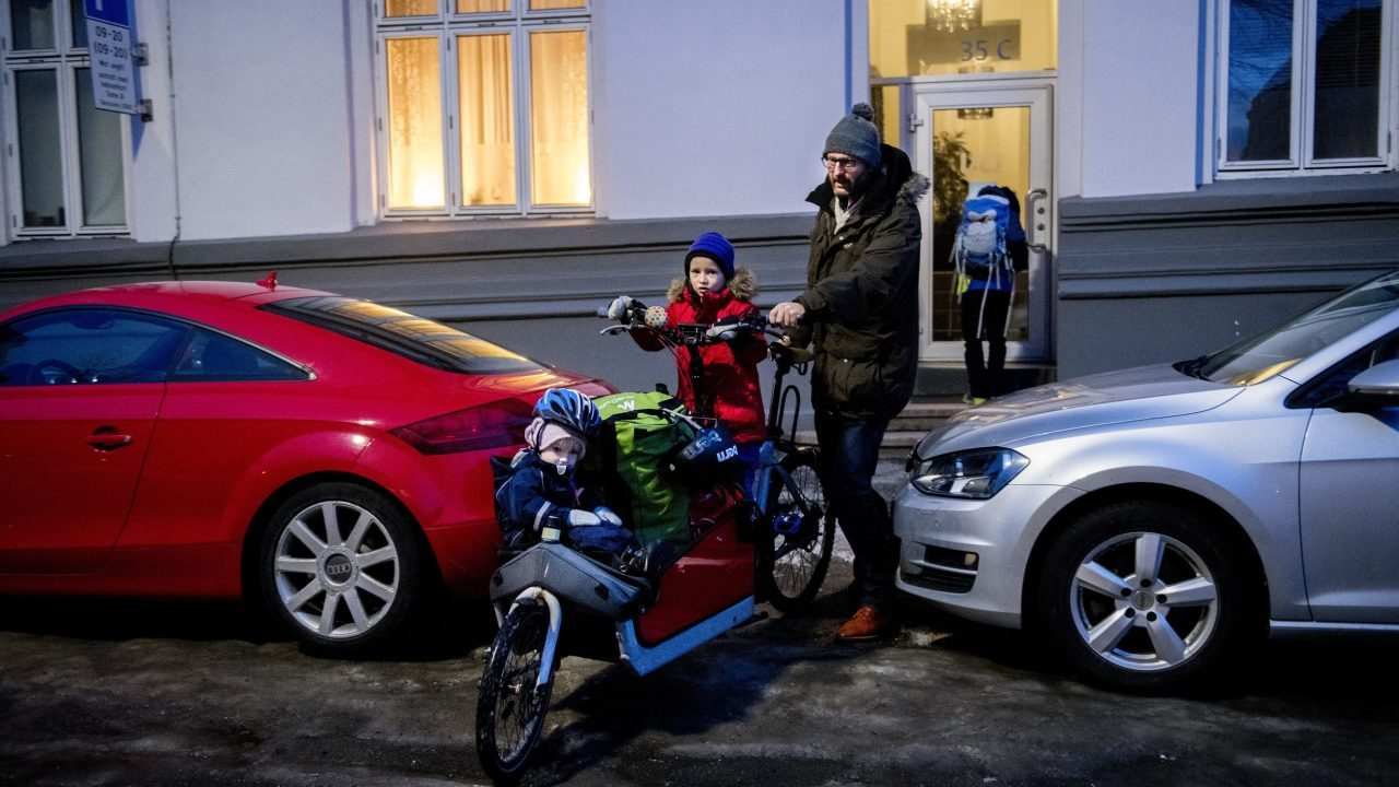 A car-free life in Oslo is possible because of the family's cargo bike