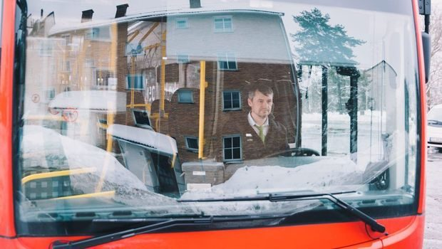 Miroslav Ducat is one of the first bus drivers in Oslo to drive an electric bus.